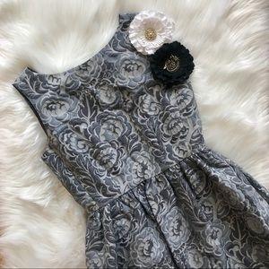 Kate Spade Gray Floral Print Sleeveless Dress